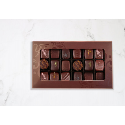 Assortiment Ganache nature 180g Coffret
