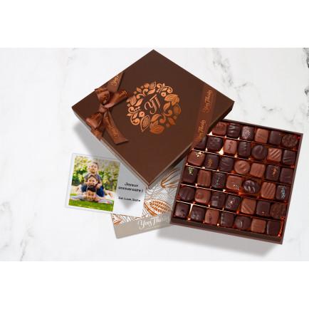 Assortiment Chocolats Noir et Lait 720g Coffret