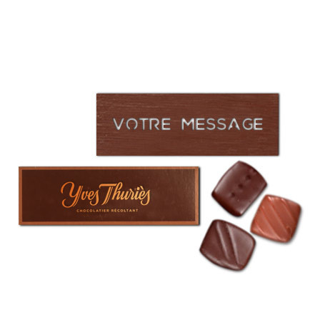 Lapin coincé sous l'œuf chocolat noir ou au lait