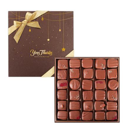Coffret luxe 42 chocolats noirs