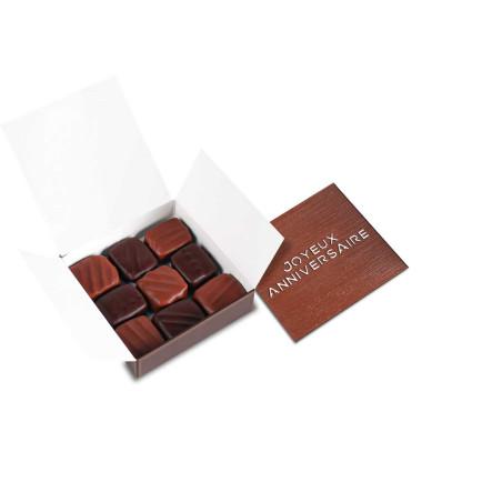 Coffret luxe 80 chocolats noirs