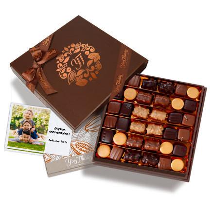 Coffret 20 chocolats noirs